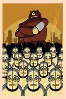 Robots Retro Propaganda Art Print Poster Poster 24x36 inch