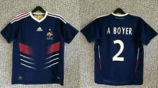 FRANCE Soccer National Team A Boyer Football Jersey Shirt Adidas Youth Size L
