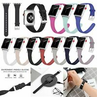 For New Watch iWatch Series 4 3 2 1 Silicone Wristwatch Band Strap Bracelet