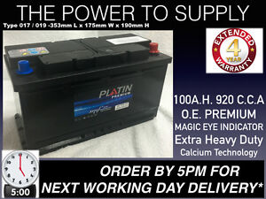 BMW X5 4.4,4.6,4.8, Diesel 12V 100AH Car Battery UK019 O.E.M. QUALITY 24HR DEL
