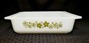 Vintage PYREX SPRING BLOSSOM 8x8 Square Baking Pan Casserole #922 Exc Cond!