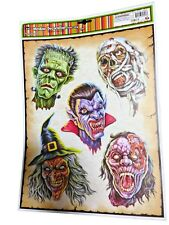 Haunted House Horror Props CREEPY DECAL CLING Halloween Decorations-MONSTER HEAD