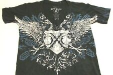 Women's Size Small Black Graphic Short Sleeve Patterned T-shirt Xtreme Couture