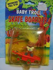 Baby Troll Skate Boarder - *Rare* - New Soma Troll Doll Toy