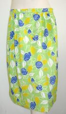 """LILLY PULITZER """"The Lilly"""" VINTAGE FLORAL SKIRT GREEN BLUE YELLOW SIZE 14-16 USA"""