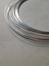 925 SOLID STERLING SILVER ROUND 26 GAUGE HALF HARD WIRE- 5 FEET - MADE IN USA