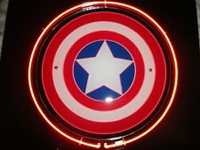 Captain America Shield: Marvel Super Hero Comics Display Neon Light Sign