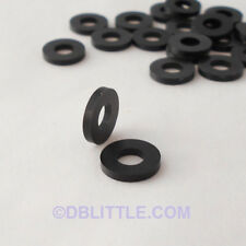 (100) PREMIUM Black Nylon #10 Washers for IT, Telecom and Network Rack Screws