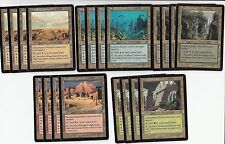 Odyssey  - MP -  4 of Each Common Combo Sac Land Set - 20 Cards - All 5