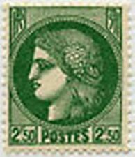 """FRANCE STAMP TIMBRE 375 """" CERES 2 F 50 VERT """" NEUF x TB"""