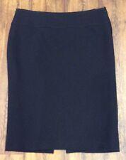 Preloved - Hobbs Black Wool Pencil Skirt - Sz 14