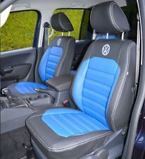 VW Amarok Tailored Waterproof Highline Replica Leather Look Seat Covers 2009+