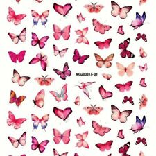 PINK BUTTERFLY NAIL STICKERS Stickers for Nail Art, Nail Decals,Nail Supplies 3D