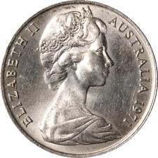 Austrailia 10 Cents, 1971 KM #65,  Unc