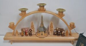 """Handmade Wooden Germany Erzgebirge Glasse Christmas Candle Arch  13"""""""