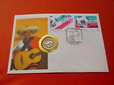 * Mexiko Numisbrief 1984 mit 25 Pesos Silber *Fußball WM 1986