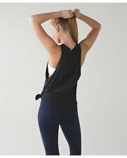 LULULEMON Tie & Go Tank Size 4 Heathered Black Fitness & Yoga Sold Out!