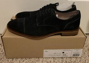 Banana Republic Mens Dress Shoes Suede Navy Blue Size 8.5 NEW $99.99