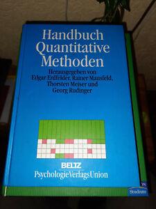 Erdfelder, Handbuch quantitative Methoden, Beltz, Sehr guter Zustand