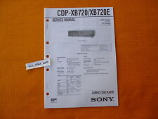 SERVICE MANUAL SONY CDP XB720 XB720E english Reparatur Anleitung Schaltplan