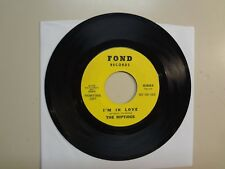 "RIPTIDES: I'm In Love 2:50-Hey Little Girl 2:45-U.S. 7"" 65 FOND Records 45-0020"