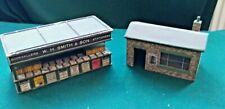 Model Railway Buildings - W.H.Smith Kiosk and coal merchant 1950's