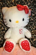 NWT Build A Bear STUFFED Hello Kitty LOVE hearts Retired Plush LIMITED ED 18""