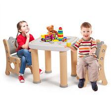 3 TLG. Kindersitzgruppe höhenverstellbar Kindertisch + 2 Kinderstühlen