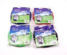 Foldable Pop Up Laundry Hamper Basket Clothes Bag Drawstring Mesh Storage x2
