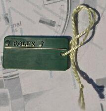 ROLEX TAG cartellino in plastica verde ORIGINALE ROLEX