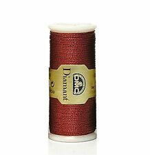 DMC DIAMANT METALLIC EMBROIDERY THREAD NO. D321 35 METER SPOOL RED