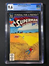 """Superman: The Man of Steel #21 CGC 9.6 (1993) - """"Funeral for a Friend"""" part 7"""