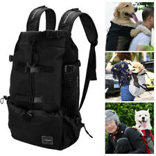 Adjustable Dog Carrier Backpack Large Mesh Breathable for Outdoor Sport Camping
