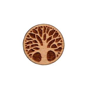 Tree Wood Lapel Pin