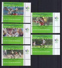 BRD 2003 gestempelt ESST Berlin Eckrand unten rechts MiNr. 2324-2328  Fußball WM