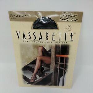 Vassarette Funky Fishnet Pantyhose Medium 110-165 lbs Black Made In Italy - NIP