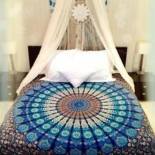 Blue Bedspread Wall Hanging Decor Mandala Tapestry Indian Cotton Picnic Blanket