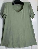 J Jill women Scoop neck XL Elliptical Tee shirt Top  size Pima Cotton Sage New