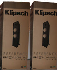 Klipsch RF-7 II Floorstanding Speakers (Pair) Brand NEW Black Color