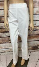 Tribal Womens Pants White Size 14 Petite Stretch Side Zip NWT