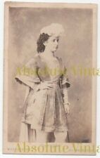 OLD CDV ACTRESS / OPERA SINGER ? WOTHLYTYPE PHOTOGRAPH LONDON ANTIQUE C.1870