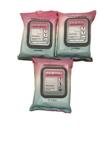 3 Packs of Active Essentials Women's Deodorant Wipes w/Aloe-25/Pk-Priority Ship