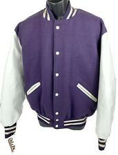 Vintage Delong Large Wool Varsity Jacket New with Tags Purple