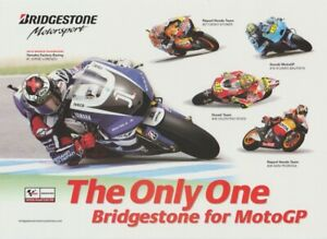 2011 Bridgestone Motorsport MotoGP postcard ROSSI PEDROSA STONER HAYDEN LORENZO