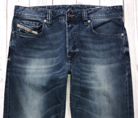 Mens DIESEL Larkee-Relaxed Jeans W30 L32 Blue Comfort Straight Fit Wash 0807U