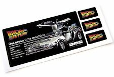 DISPLAY STICKERS for Lego 21103 DeLorean 1, HOT WHEELS DELOREAN , BACK FUTURE 1