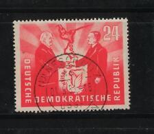 DDR 284, 24 PF tedesco-polacco amicizia, 1951 PUNZONATO #a070