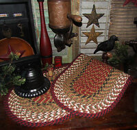 """Primitive Natural Cotton Braided 36"""" TABLE RUNNER Trivet/Placemat Oval #19"""