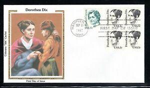 """1983 Sc #1844 1c Dorotea Dix - Humanitarian Colorano """"Silk"""" FDC"""