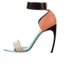 Nicholas Kirkwood COLOR BLOCK Open Toe Ankle Strap Heel Italy 41 US Size 11